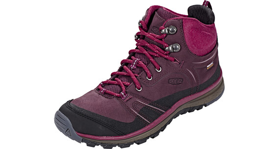 Keen Terradora Leather Mid WP Sko Damer rød/sort